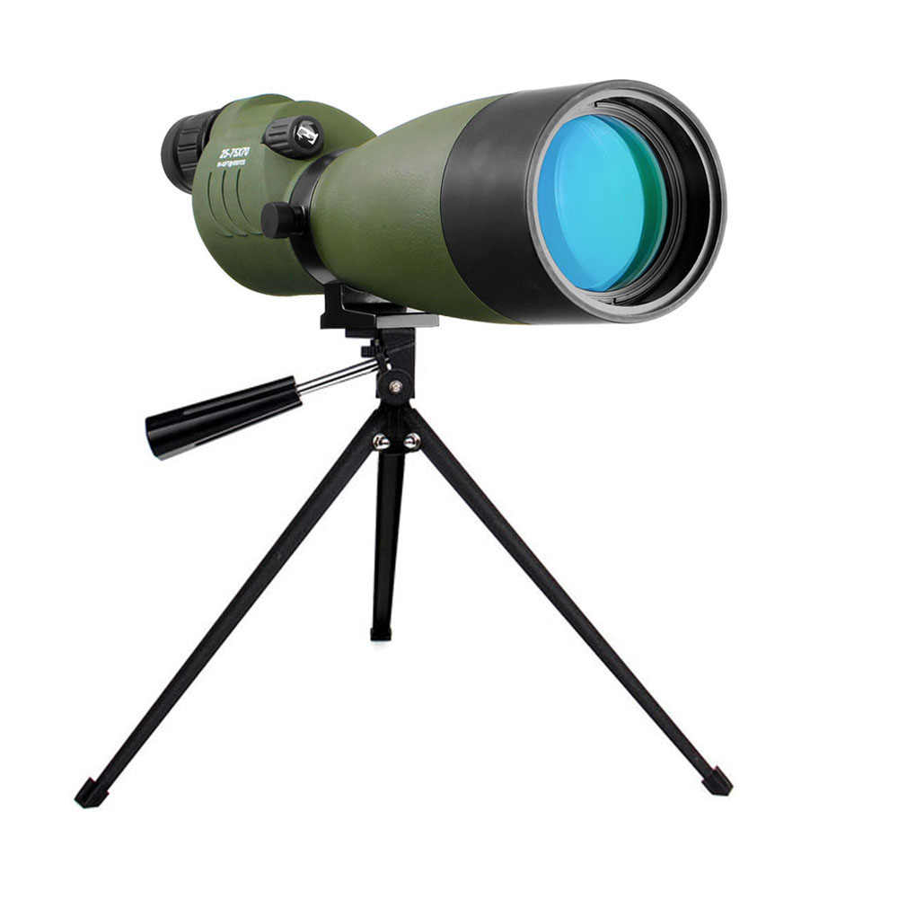 LAIDA Spotting Scope 25-75x70mm Straight for Target Shooting Hunting w/ Soft Carry Case + Tripod Waterproof Telescope M0052