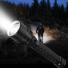 Outdoor LED Diving Waterproof Flashlight High Light Underwater 100m Black flashlight