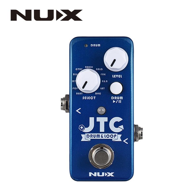 Nux NDL-2 jtc tambor & loop efeito guitarra pedal looper 6 minutos tempo de gravação 10 ritmos tambor inteligente torneira tempo com pedal