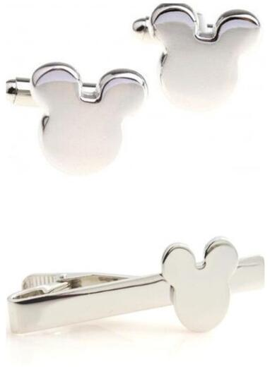 Tie Clip Cufflinks Set Mickey Design Tie Clip Cuff Links Set Pins Button Set Men Gift
