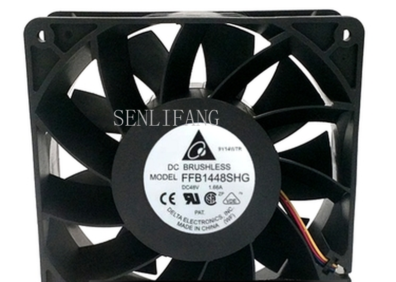 Free Shipping For Original Delta FFB1448SHG 48V 1.66A 14051 140 * 140 * 51 Mm Three-line Ball-bearing Fan Frequency