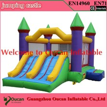 2016new commodity free shipping PVC6.5x4x4m tarpaulin inflatable bouncers with slide for kids and baby