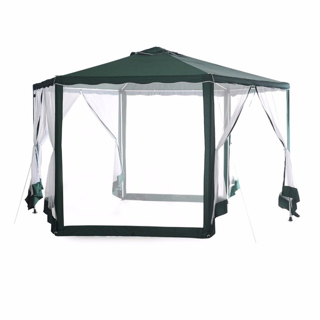 Abba Patio Outdoor Hexagon Canopy With Mosquito Net Sun Shade Shelter 6.6 X  6.6 X 6.6