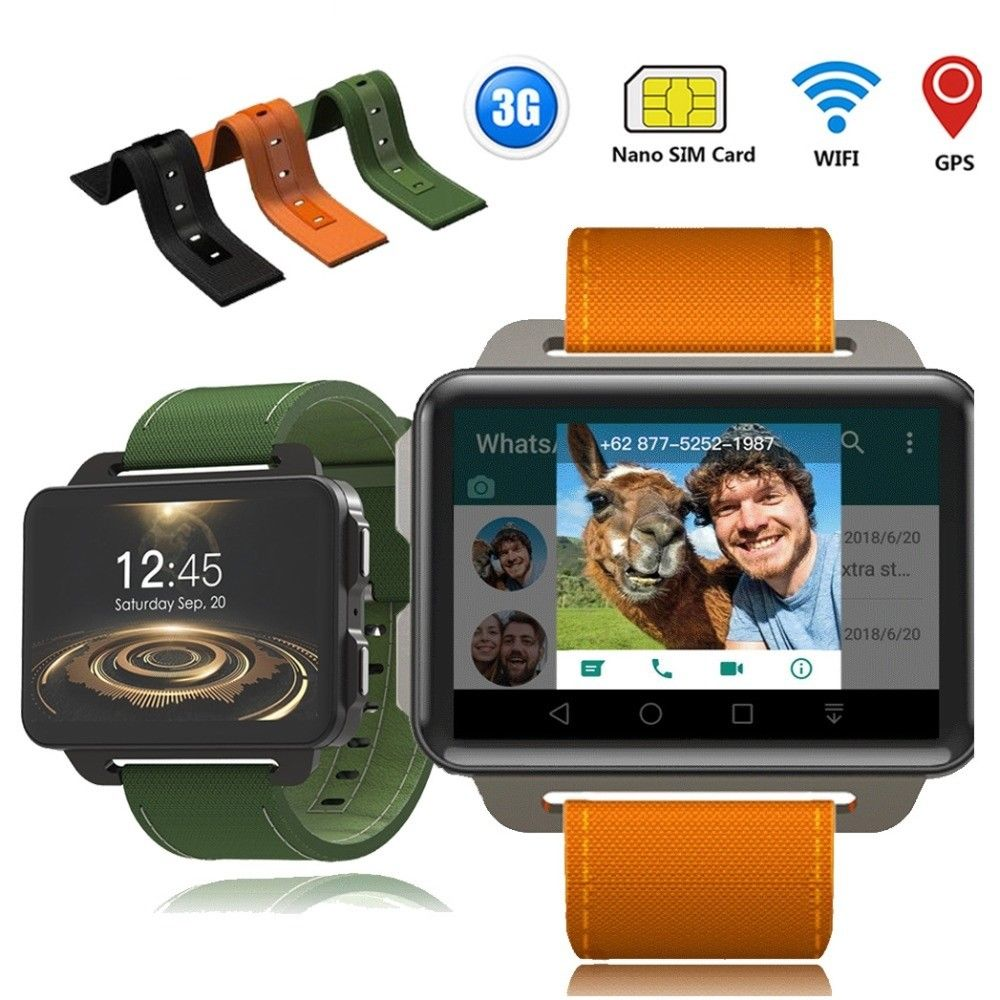 Timethinker DM99 GPS Smart Watch MTK6580 Android 5.1 Smartwatch 2.2'' Screen 1200Mah Battery 1GB+16GB Wifi 3G For iphone huawei