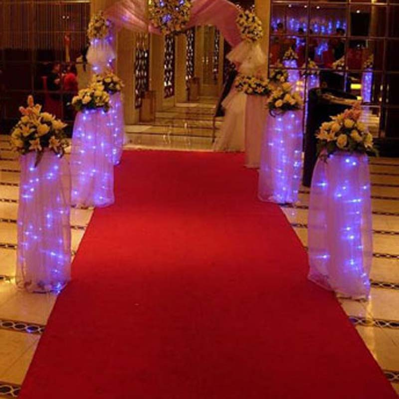 Wedding Party Red Carpet Decoration Noeasy Tearing Aisle Runner 1mx5m Polyester Roll 23087
