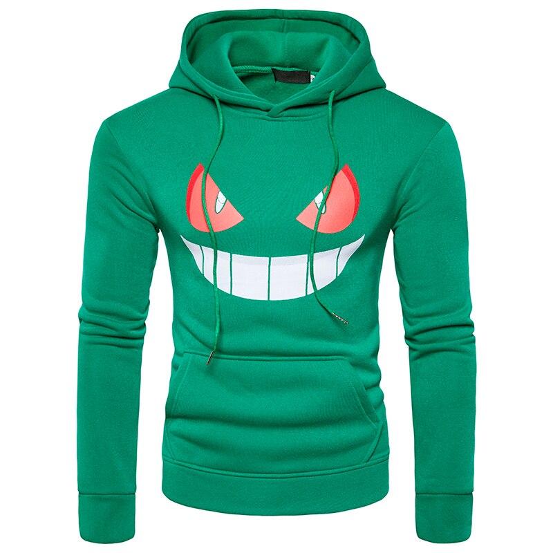 ief.G.S Mens Hoodies Sweatshirts 2017 New Winter Mens Halloween Pumpkin Face Printing Head Sets Leisure Hoodies Sweatshirts