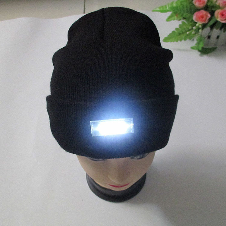 5-LED Lighted Cap Winter Warm Beanie Angling Hunting Camping Hat 5Color Hot Sale