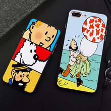 DK the Adventures of Tintin phone case for Samsung s8 s9plus S6 S7Edge S5 Black Cover for iPhone 6 6s 7 8plus 5 X XS XR XSMax 1x the adventures of tintin figure set destination moon new