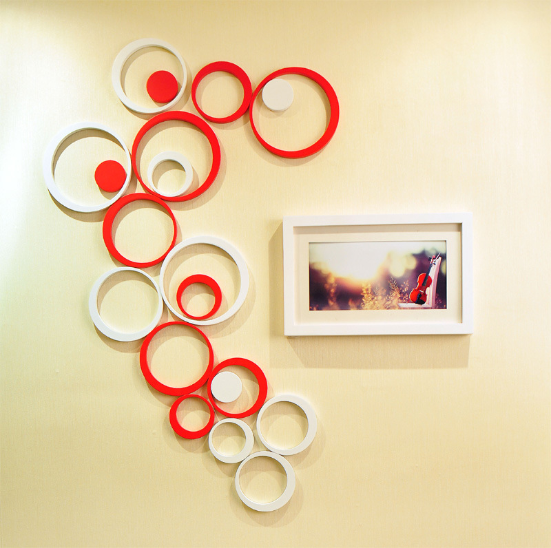 Lovely 5pcs/1set Indoor Room Decoration Circle Removable 3D Art Wall Sticker Round  Home DIY In Wallpapers From Home Improvement On Aliexpress.com | Alibaba  Group