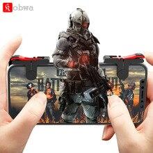 Kobwa D9 мобильную игру Pubg контроллер геймпад для телефона L1R1 с пистолетной рукояткой джойстик/триггер огонь кнопки для iPhone IOS и Android