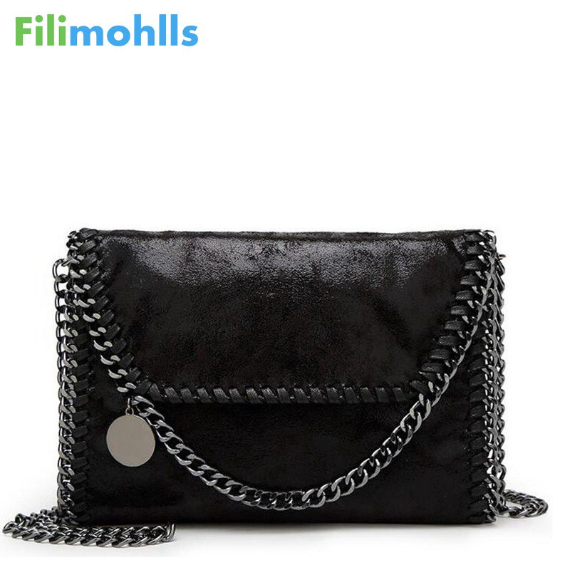 2018 neue Frauen Nachricht Tasche Pu Mode Tragbare 2 Ketten Tasche Woven Schulter tasche bolsa feminina carteras mujer handtasche S989