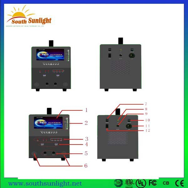 New Design China 50W TV Portable Solar Power System Or Solar Energy Home  System With Tv