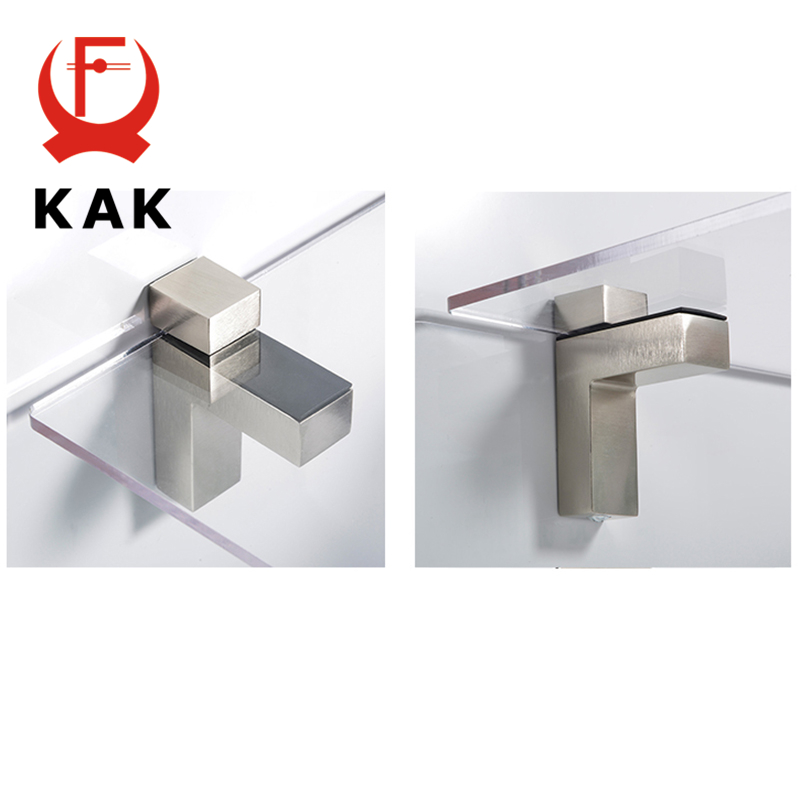 Image 4 - KAK Zinc Alloy Adjustable Glass Shelf Holder Glass Clamps Shelf Support Bracket Chrome Alloy Shelf Holder Glass Shelf BracketGlass Clamps   -