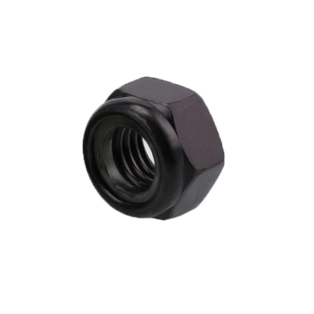 50pcs DIN985 M2 M2.5 M3 M4 M5 M6 M8 Galvanized Plating Black Zinc Self-locking Nut Hex Nylon Lock Nuts Locknut