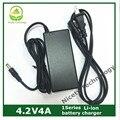 Atacado 4.2V4A 3.7 V bateria de polímero de lítio modelo carregador de bateria com DC2.1 cabo
