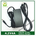 Wholesale 4.2V4A 3.7V lithium polymer battery model aircraft battery charger with LED DC2.1 plug