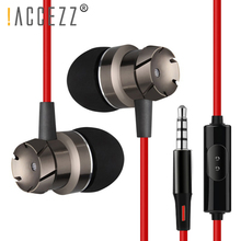 !ACCEZZ In Ear Universal Earphone 3.5mm Audio Jack Headset For Iphone 6 6S Xiaomi Samsung With Microphone Wired Stereo Earphones dagee dg 001mic universal 3 5mm jack wired nylon housing microphone for pc black 200cm