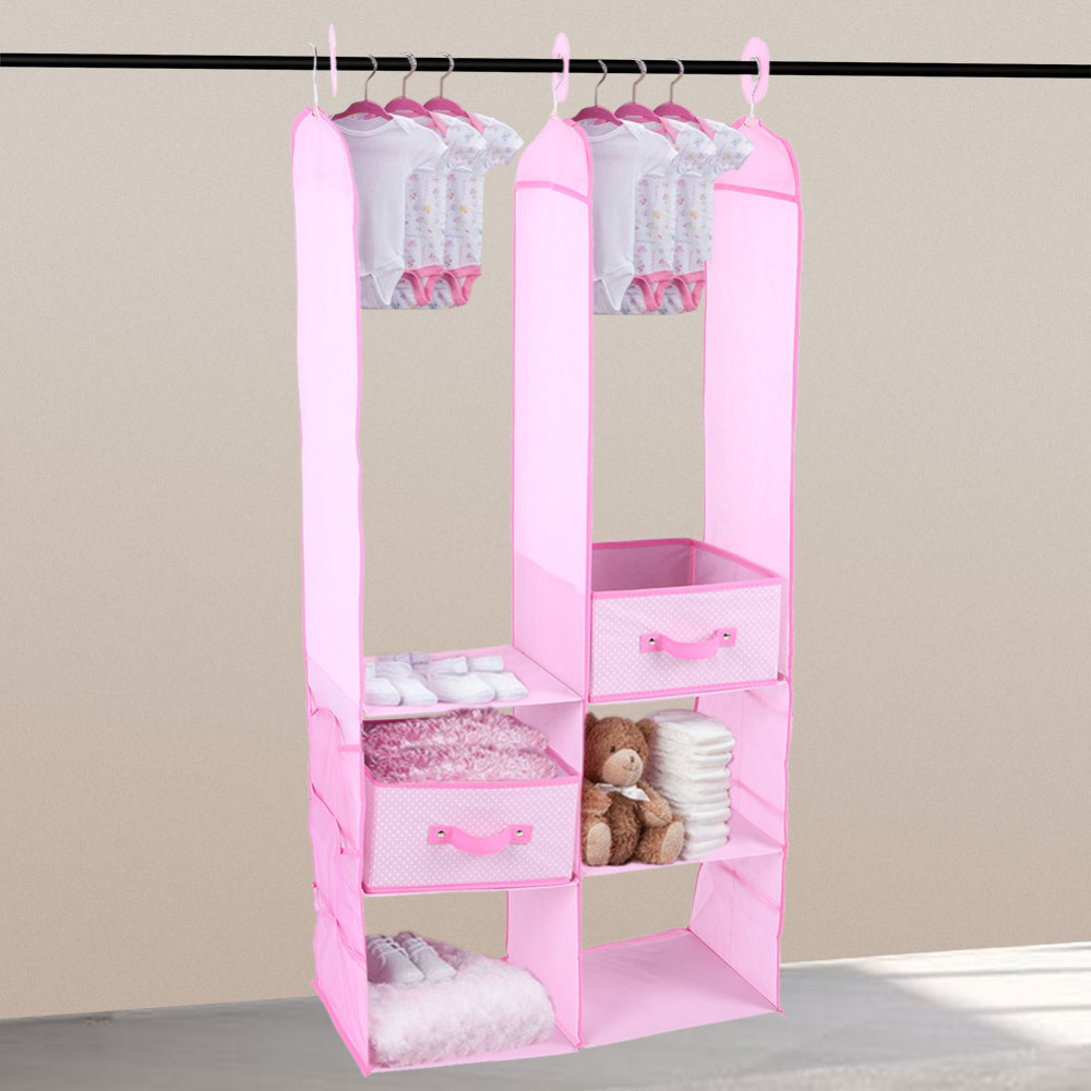Children Wardrobes 24pcs Children Nursery Closet Organizer Set Baby Clothes Hanging Wardrobe Storage Baby Clothing Kids Toys Organizer
