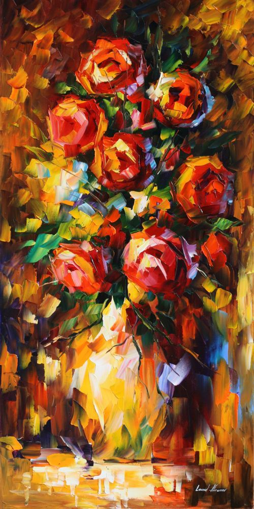 Quality oil painting home decor canvas prints abstract flower pots planters palette font b knife b