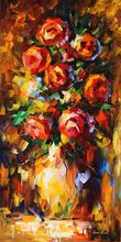 Quality oil painting home decor canvas prints abstract flower pots planters palette knife art 16″X32″ 19-sc-1 (114)