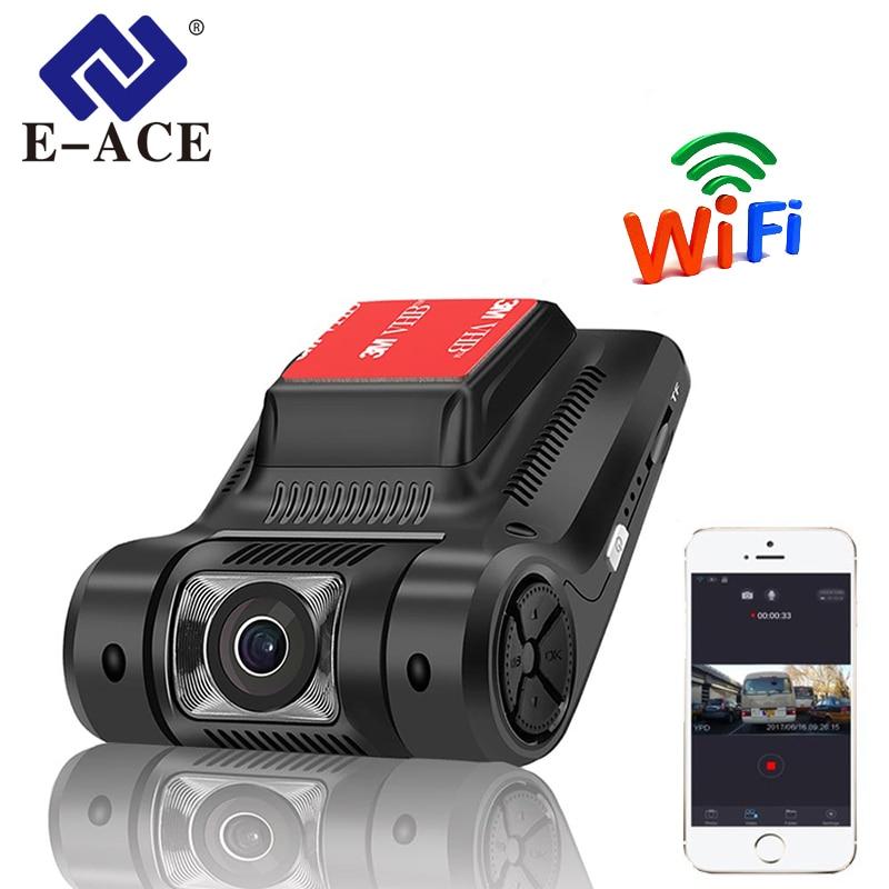 E-ACE Mini Wifi Car DVR FHD 1080P Dash Cam Night Vision Camera Novatek 96658 Sony IMX322 Auto Registrator Video Recorder Dashcam for volvo xc60 car driving video recorder dvr mini control app wifi camera black box novatek 96658 registrator dash cam