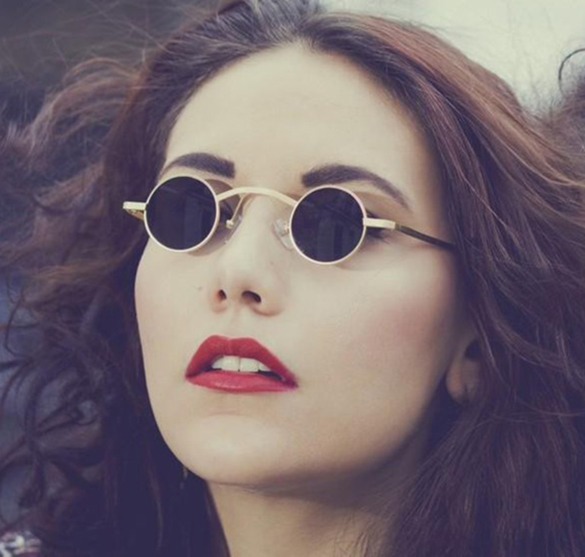 JackJad 2019 New Fashion Gothic Steampunk Rreth syze dielli të rrumbullakëta të Vogla Dizajni i markës Vintage Retro Syze dielli Oculos De Sol Feminino