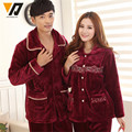 Warm Pajamas Sets Couple Thickened Pijamas Suit Adult Long Sleeved Hombre Nightwear Suit L-4XL
