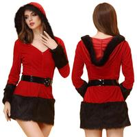 Christmas Uniform Charming Miss Santa Claus Xmas Costume Party Outfit Fancy Dresses For Ladies Female Clothes