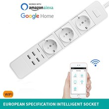 Europe Wifi Intelligence Row Insert App Long-range Remote Control Socket Can Voice Bring Usb Mouth