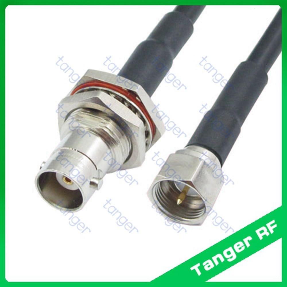 Tanger F konektor laki-laki untuk BNC perempuan jack depan dengan kacang  lurus RF Coaxial 85bd2aae93