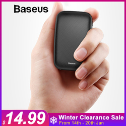 Baseus Mini Power Bank 10000mAh For iPhone X Xs Max X 8 Portable External Battery Pack Powerbank For Samsung S9 S8 Note9 Xiaomi