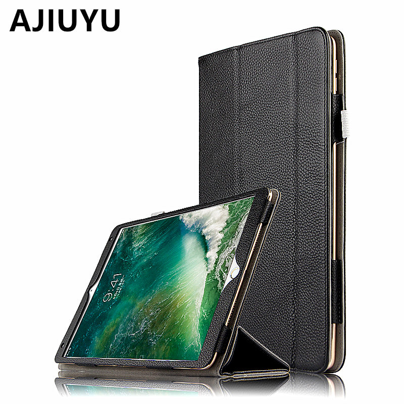 AJIUYU Case Cowhide For iPad Pro 10.5 inch 2017 Genuine Leather Smart Cover For Apple iPadPro10.5 Tablet Protector Protective цена