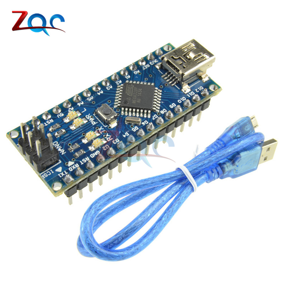 MINI USB Nano V3.0 ATmega328P CH340G 5V 16M Micro-controller board for Arduino NANO 328P NANO 3.0 + USB cable мастурбатор nano toys nano