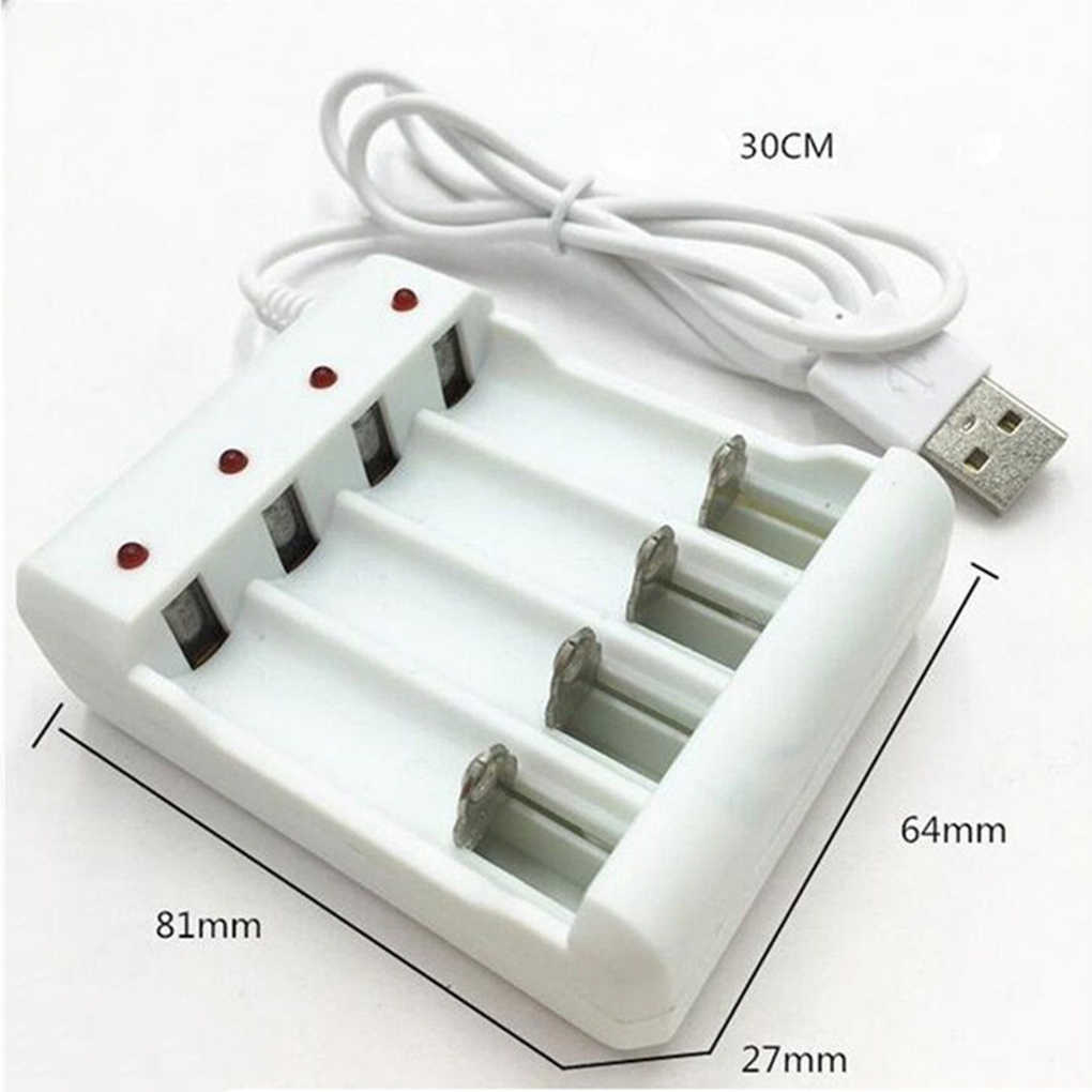 USB 4 слота Быстрая зарядка зарядное устройство защита от короткого замыкания AAA и AA Аккумуляторная батарея станция