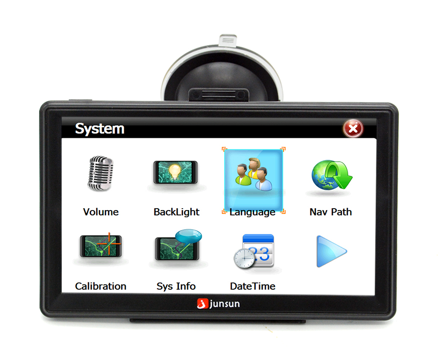"7"" HD FM Bluetooth Car GPS Navigator - D100 26"