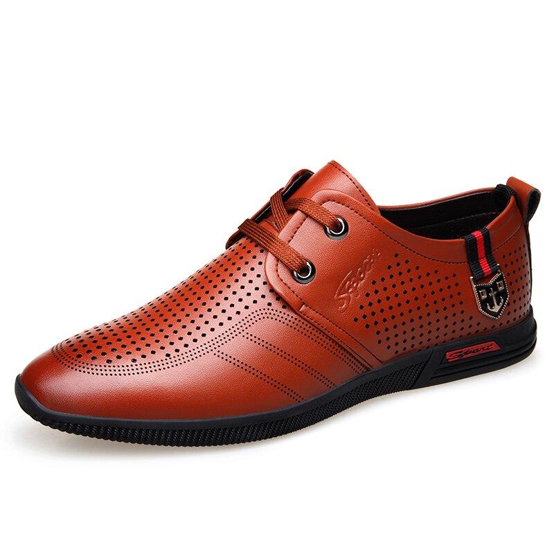 Mens Shoes Genuine Leather Rubber Soles Men Formal Shoes Lace Up Casual Business Men Big Size 38-44 Men Designer Shoes BH-A0094