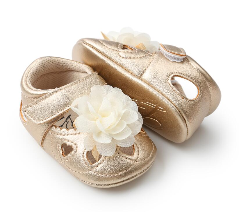 ROMIRUS flower style baby shoes for girl infants soft sole toddler moccasins Breathable PU leather summer baby shoes