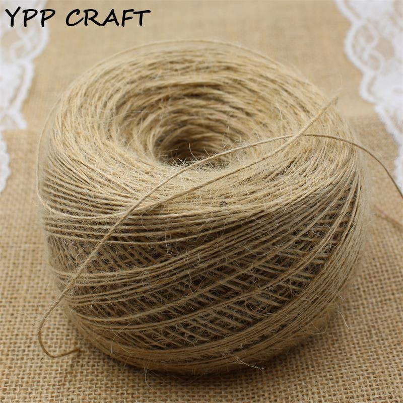 YPP CRAFT 1mm Thin rope, Natural Jute Twine Cord DIY/Decorative Handmade Accessory Hemp Jute Rope For Papercrafting 400m bioaqua exfoliante para pies