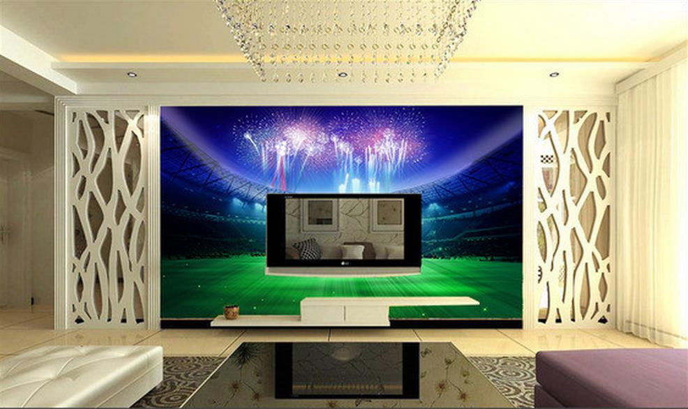 3d room mural wallpaper ball game Football photo custom non-woven sticker room sofa TV background painting wallpaper for wall 3d 3d wallpaper custom mural non woven wall sticker black and white wood road snow tv setting wall painting photo wallpaper for 3d
