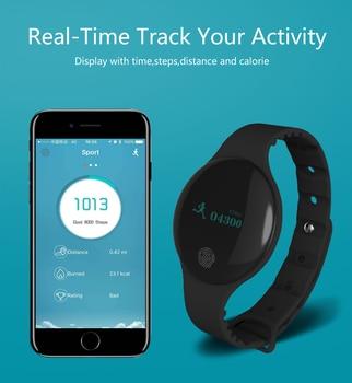 BOUNABAY Heart Rate Smart Bracelet Bluetooth watch for women original ladies watches lady Android apple ios phone woman clocks дамски часовници розово злато