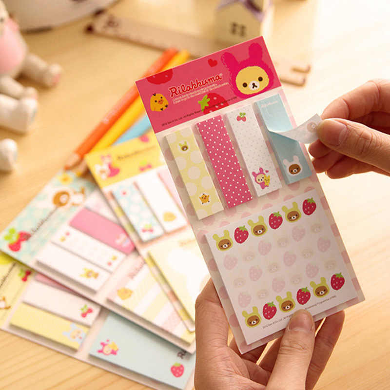1PCS Lovely New Cartoon Rilakkuma Memo Notepad Note Book Memo Pads Sticky Notes Memo Set Gift Stationery Office Supplies