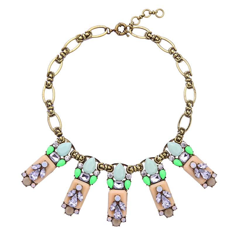 Costume Jewelry for Women Statement Vintage Necklace Multicolor Geometric Fashion Indian Chunky Necklace Collares chic multilayered coin geometric necklace for women