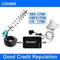 Lintratek AWS 1700 Mhz Teléfono Celular Repetidor de Señal 4G LTE Amplificador de señal UMTS Antena Yagi 1700-2100 MHz 3G Amplificador Kit Completo F10