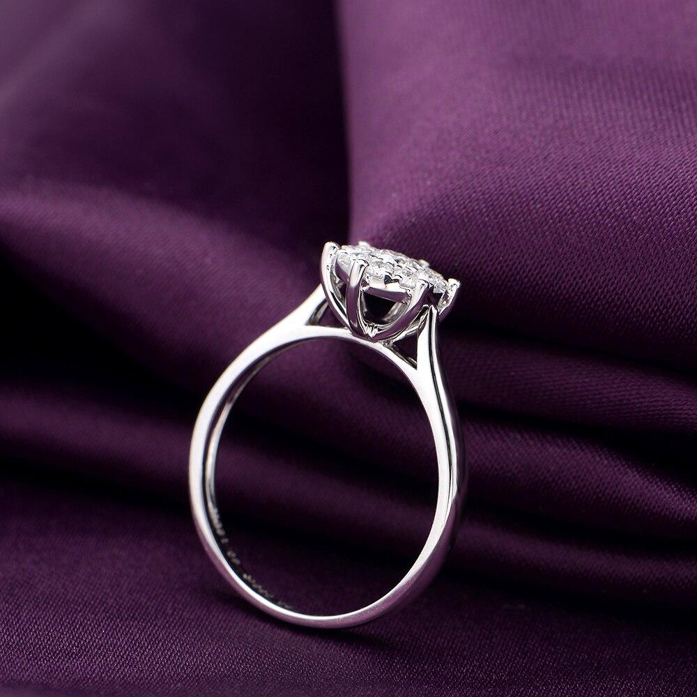 1 Carat Couple Ring Diamond 18K Platinum Gold Wedding Marriage Diamond Ring Men And Women Wedding Ring Genuine