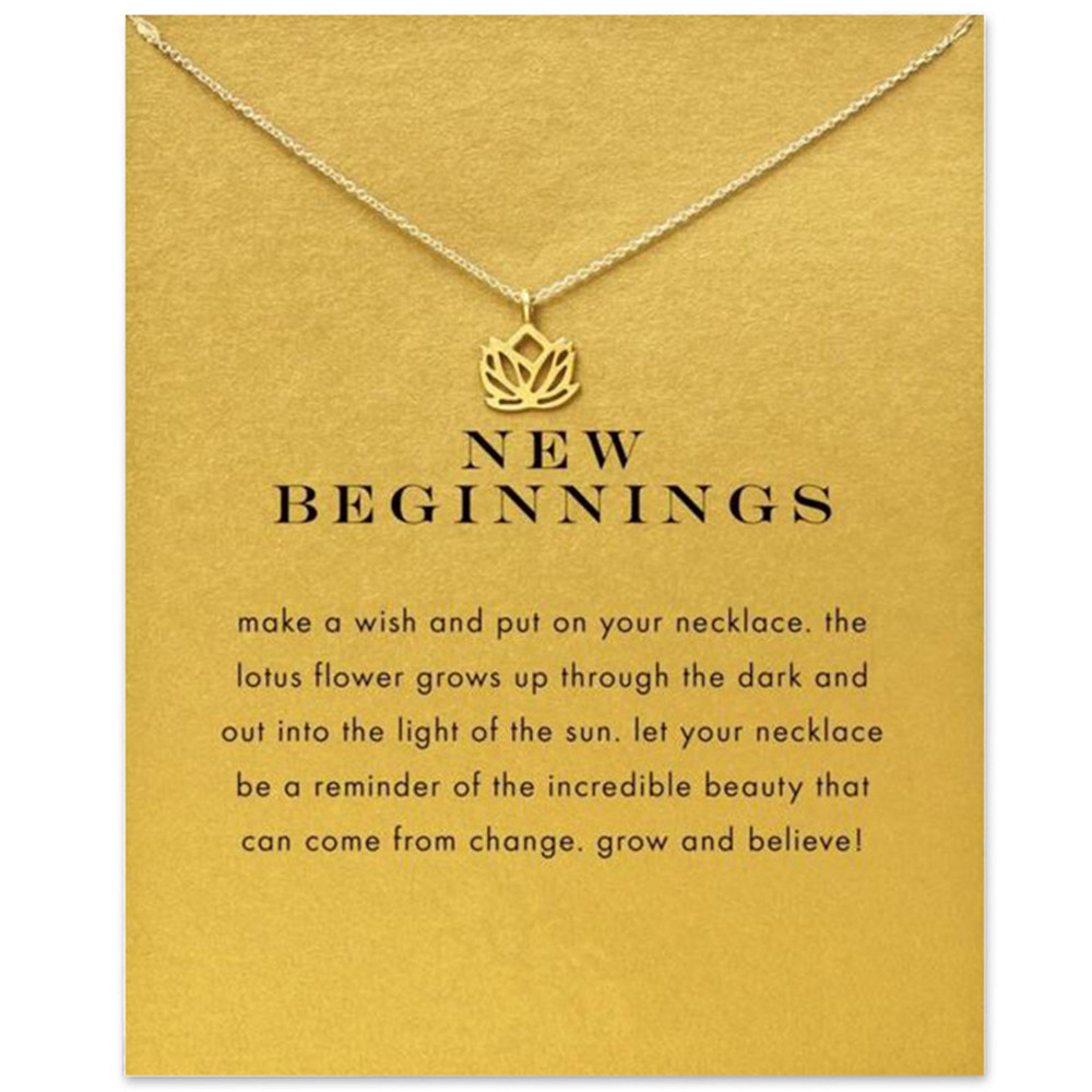 SLZBCY Gold Color Buddha Lotus Pendant Necklace Women Star Elephant Geometric Chain Chokers Necklace Collares Statement Jewelry