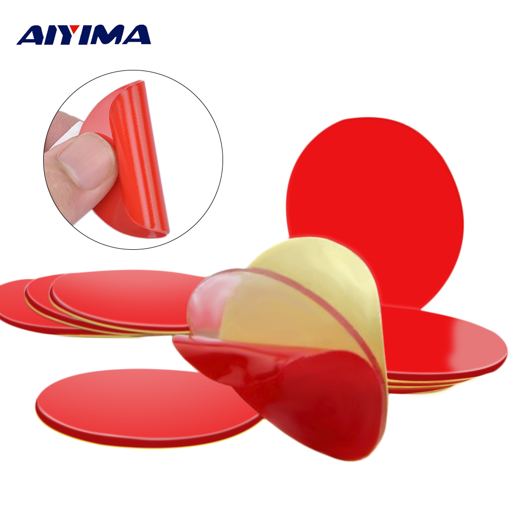 10Pcs 3M Circle Double Sided Tape Strong Acrylic Adhesive PET Red Film Clear Double Side Tapes No Trace LCD Phone Tablet Screen 2mm 50m strong acrylic adhesive red film clear double sided tape sticker for mobile phone lcd pannel display screen hot sale