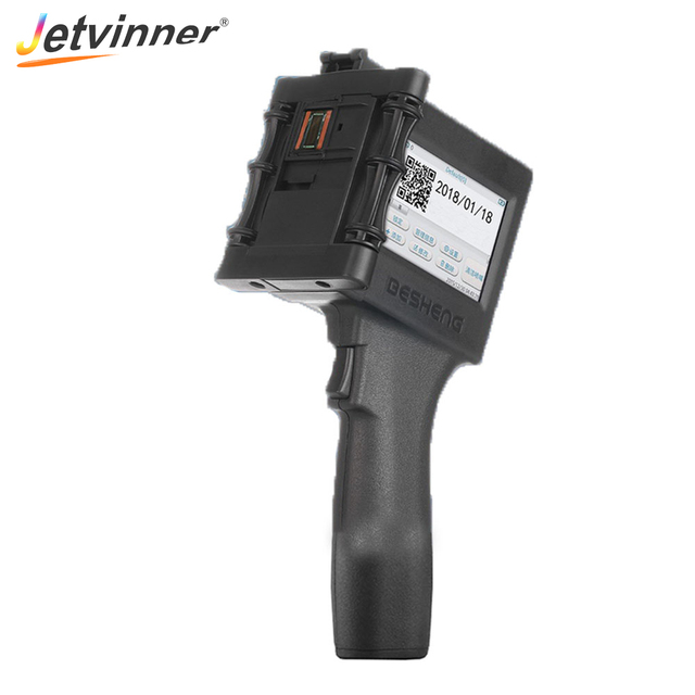 Jetvinner נייד כף יד הזרקת דיו מדפסת תווית מדפסת מכונת עבור נייר מגבות, A4 לבן נייר, טקסטיל, עץ, קיר בטון