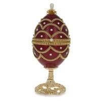 New Red Royal Faberge Diamond Eggshell Music Box Jewelry Music Box Ring Musical Box Birthday Gift Girls women Married Souvenir