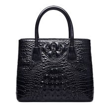 Classic Embossed Crocodile Leather Tote Bag women messenger bag with single shoulder strap