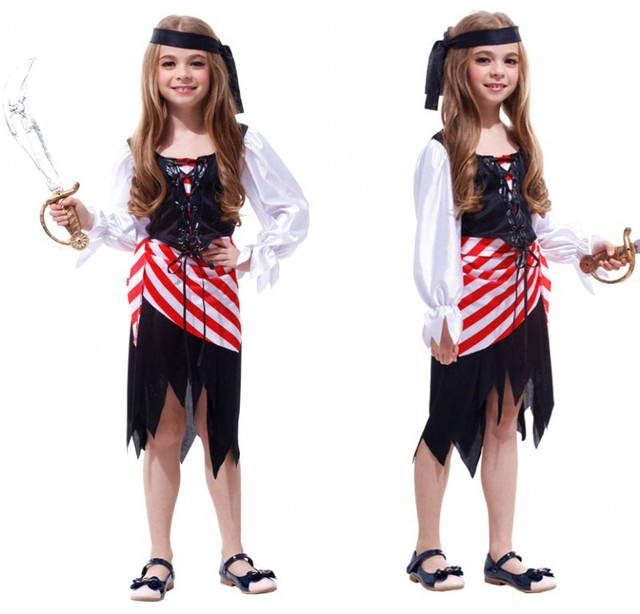 2014 Disfraces Pirate Dress Performance Clothing Female Role Models for Children Christmas Costume Pirates of The  sc 1 st  AliExpress.com & 2014 Disfraces Pirate Dress Performance Clothing Female Role Models ...